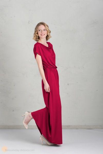 LangBridesmaid Mathilda Dresses HimbeereBrautjungfernkleid In OPXZkiu