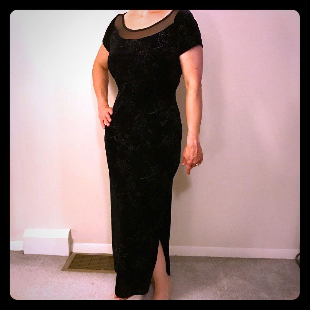 Black velvet evening gown black velvet and products