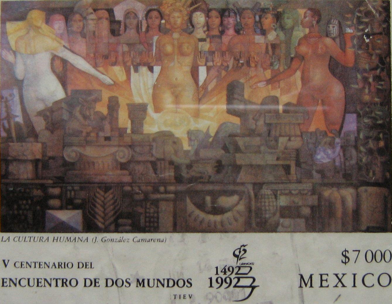 LA CULTURA HUMANA (J. González Camarena) V CENTENARIO DEL ENCUENTRO DE DOS MUNDOS