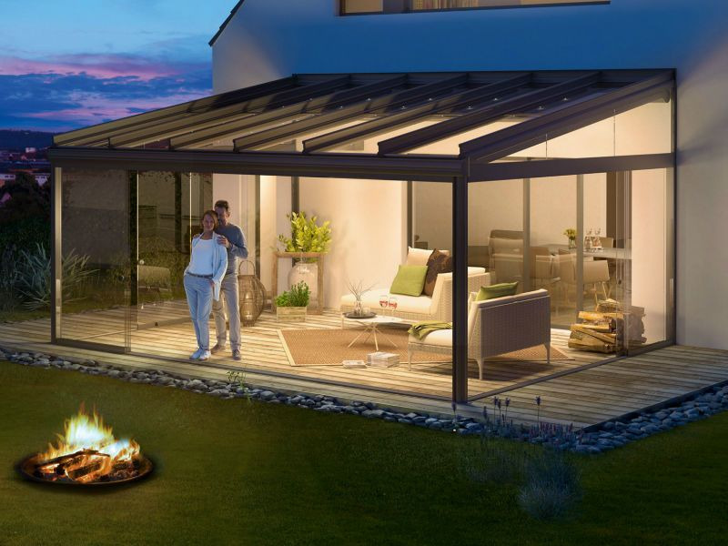 Free Brochure Glass Rooms, Verandas, Patio Awnings and ... on Backyard Patio Extension Ideas id=75799