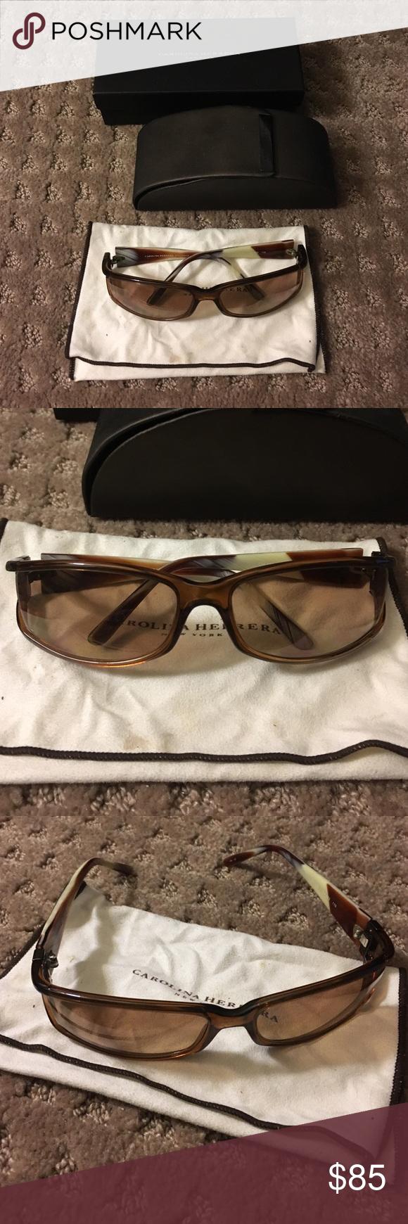 dd1b4f1ad146 Carolina Herrera CH-159 Sunglasses Chestnut REAL Carolina hererra sunglasses