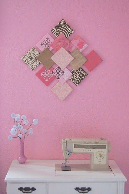 Diy Paper Wall Art And Paper Flowers Recycler Les Chutes De Papier Scrapbooking Pour En Fair Ideias Criativas Decoracao Artesanal Faca Voce Mesmo Decoracao