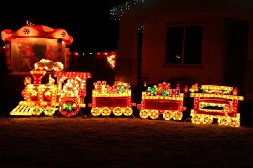outdoor lighted christmas train decoration - Outdoor Lighted Christmas Train Decoration Outdoor Christmas
