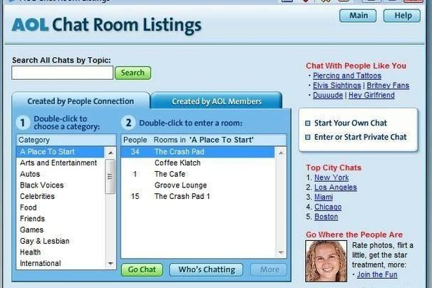Online friends chat room