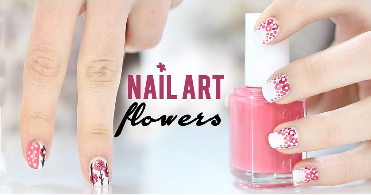 This pretty nail art tutorial is the perfect floral look for Summer.