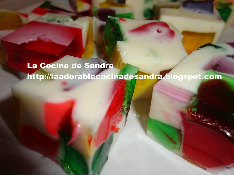 La Cocina de Sandra: Mosaico de Gelatina ( Jello Broken Glass)