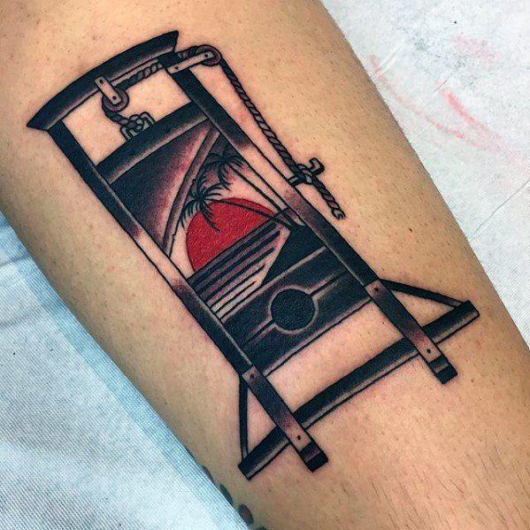 50 Guillotine Tattoo Designs For Men