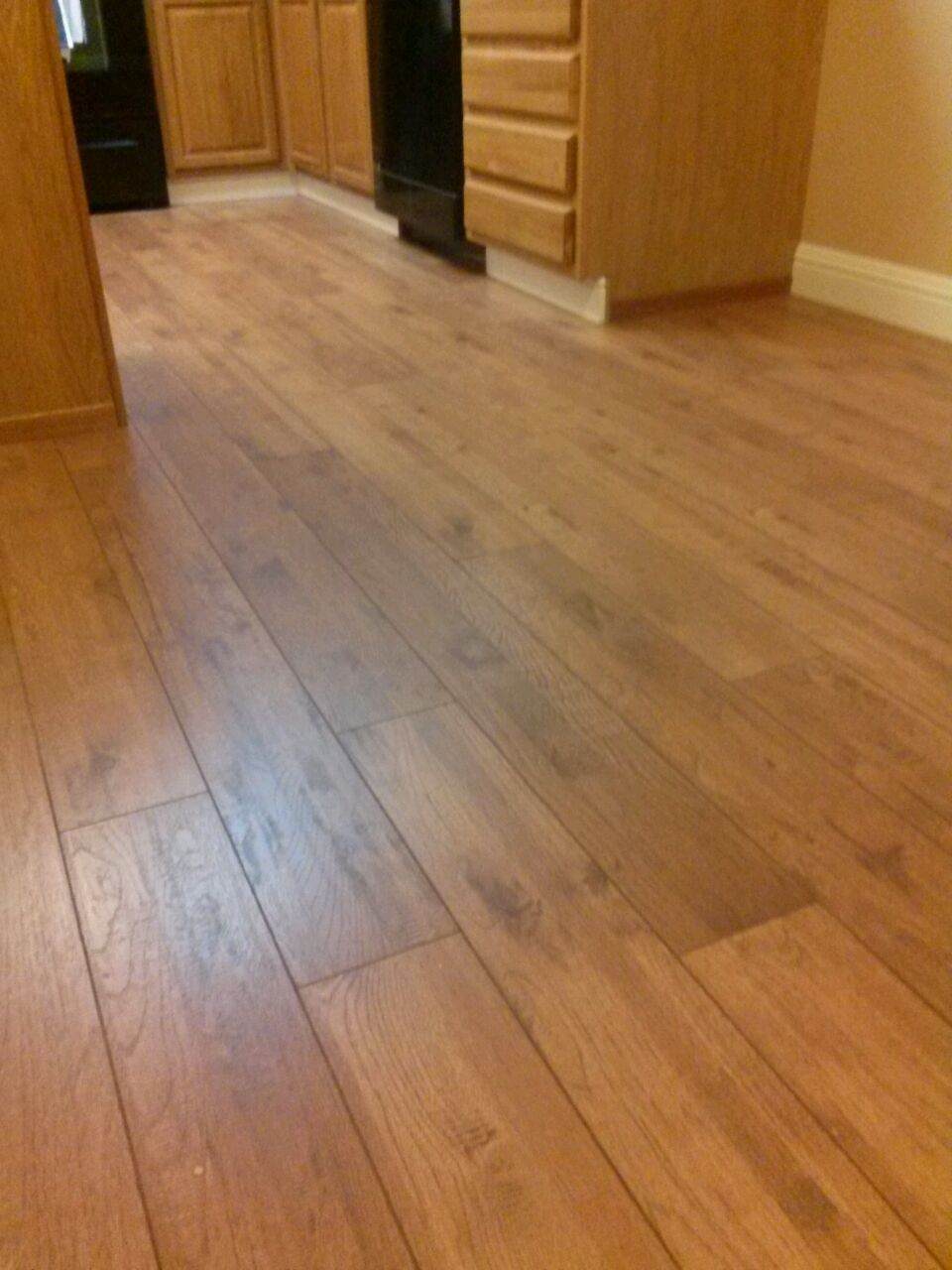 Here S A Shaw Laminate In Riverdale Hickory Installation By