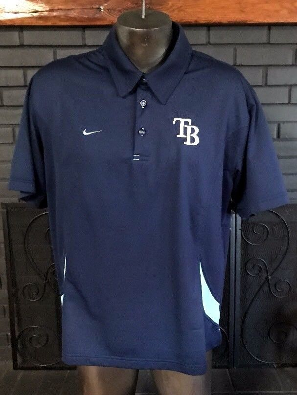 b9258105ddc Nike Tampa Bay Rays Dri Fit MLB Polo Shirt Navy Men s Size Large  Nike   PoloRugby