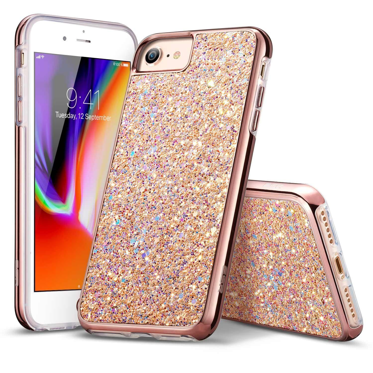 esr iphone 8 case rose gold