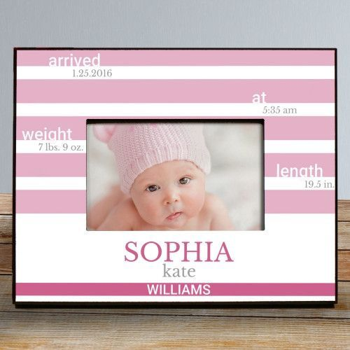 New Baby Personalized Picture Frame Personalized Picture Frames