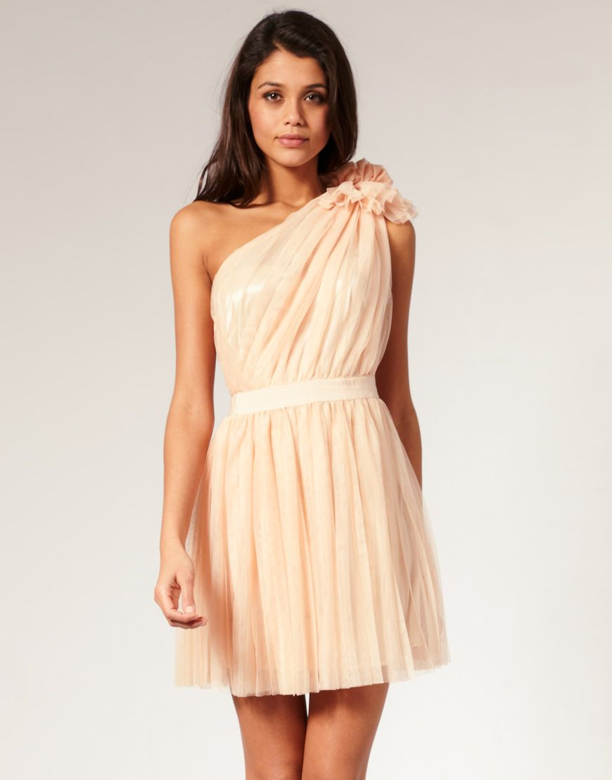 25cff779d45 ASOS Pleated Dress with One-Shoulder  107.43