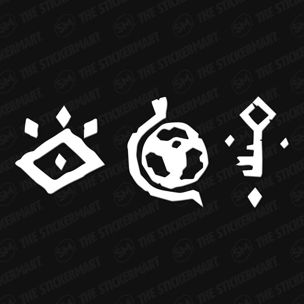 Sea Of Thieves Faction Logo Vinyl Decal Sea Of Thieves Nerd Tattoo Vinyl Decals