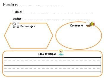 Elementary Story Map Graphic Organizer in Spanish | kinder