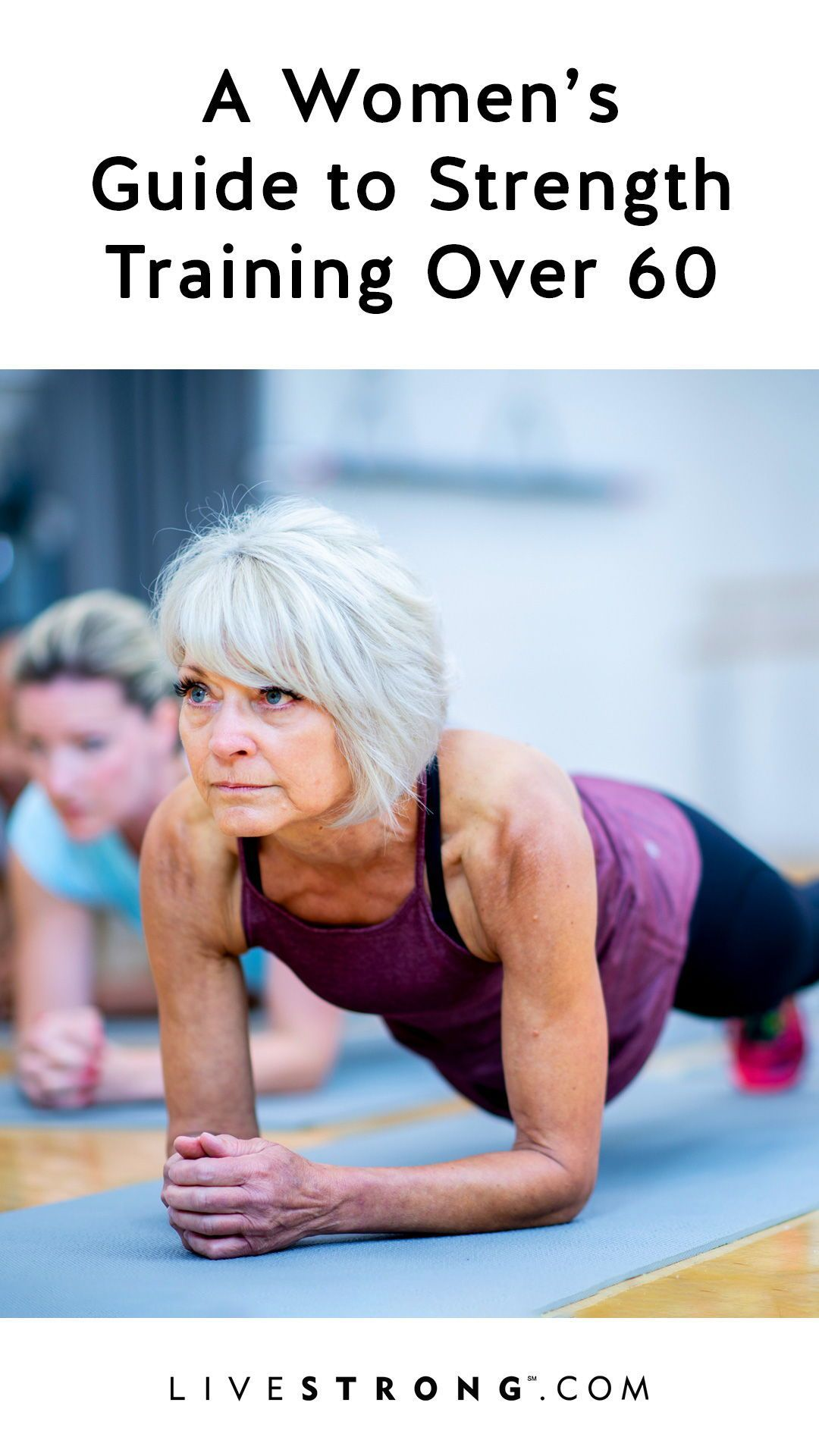 Strength Training for Women Over 60 Years Old #weighttraining These weight training workouts for women over 60 can help build lean muscle ...