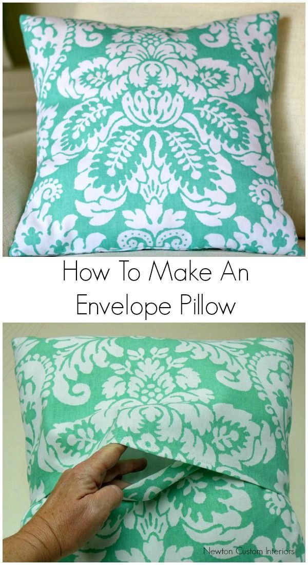 How To Make An Envelope Pillow from NewtonCustomInteriors.com You can quickly and easily update the look of your room with this envelope pillow cover sewing tutorial! #sewingprojects