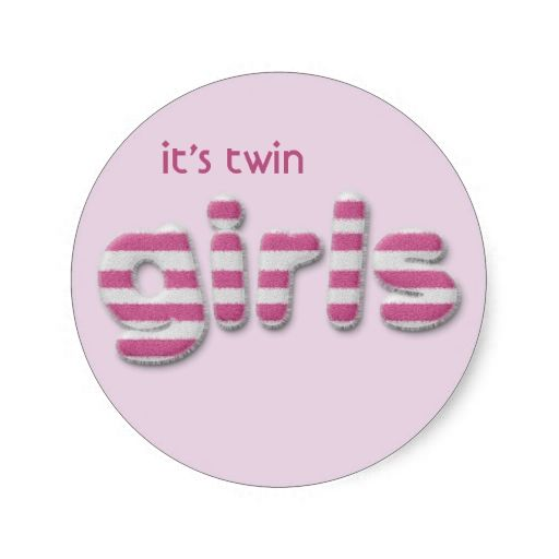 fuzzy girls round sticker