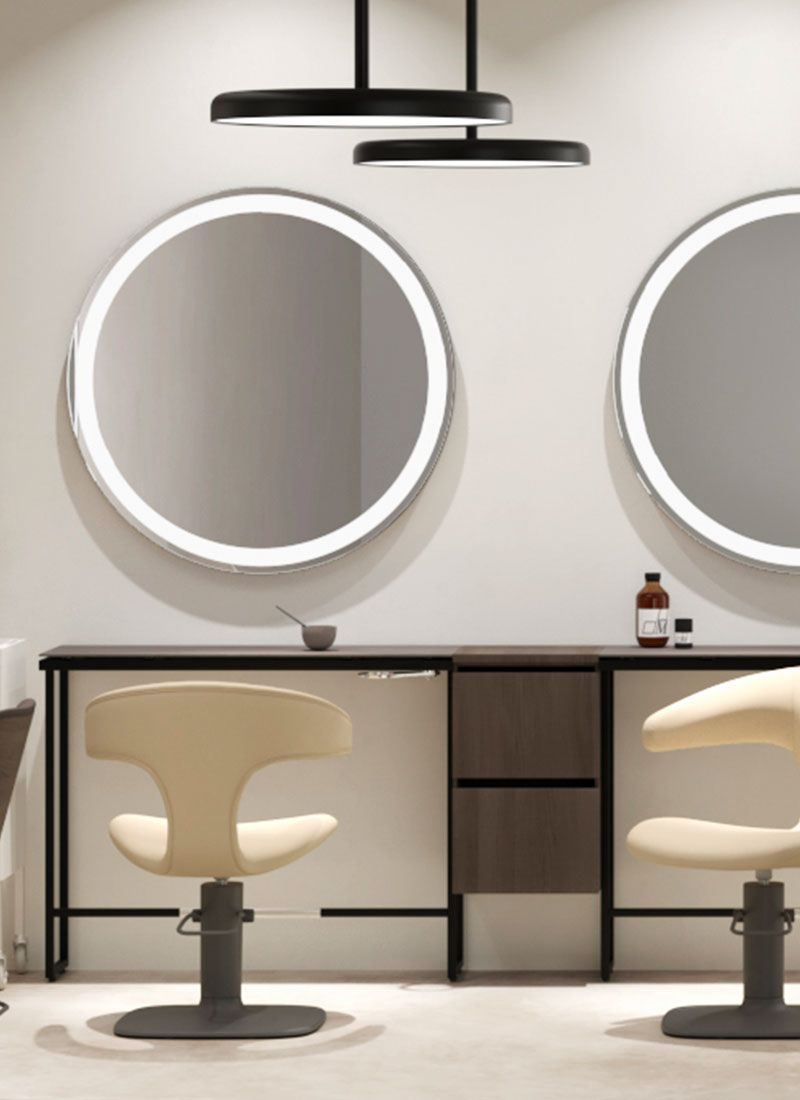 Minimal Oblo Styling Units For Hairdresser Maletti Salon Interior Design Salon Interior Beauty Salon Decor