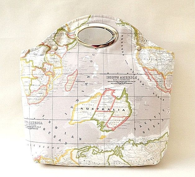 World map printed fabric metal purse handle by renklitasarimlar world map printed fabric metal purse handle by renklitasarimlar 5700 gumiabroncs Images