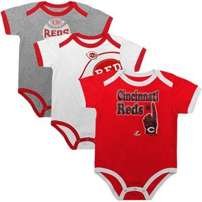 online store dd455 781fc Majestic Cincinnati Reds Infant Bases Loaded 3-Piece Creeper ...