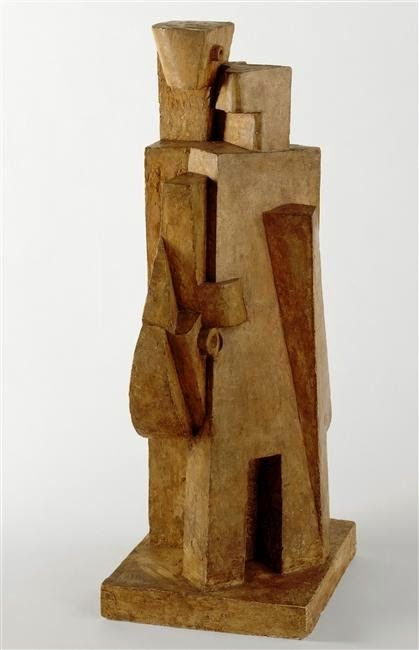 Jacques Lipchitz, The man with the mandolin (!917). National Museum of Modern Art - Georges Pompidou Center, Paris