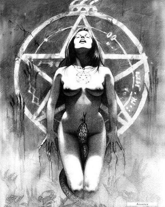 Nude satanic women