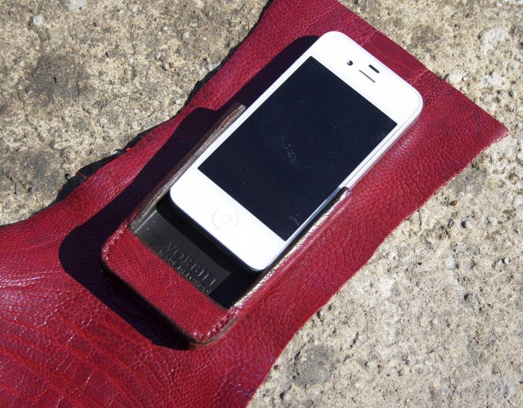 Red lizard skin iPhone 4 case