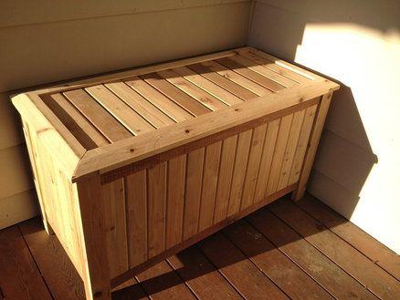 Cedar Deck Box Pets And Other Animals Pinterest Cedar Deck Deck Box And Decking