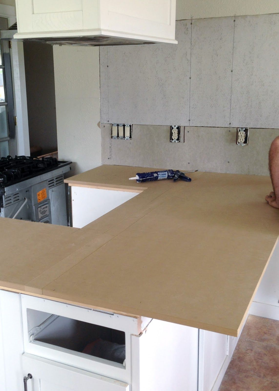 Diy Reclaimed Wood Countertop Adding A Layer Of Mdf