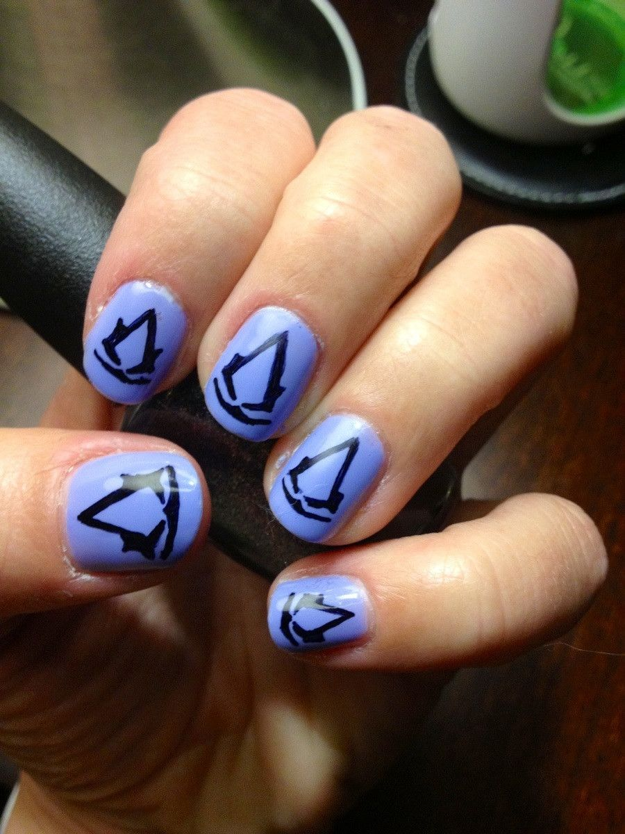 Video Game Fingernails Assassins Creed3 Nails Pinterest