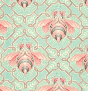 cotton fabric OOP Bumble Cotton candy Cloud Sorbet by Tula Pink