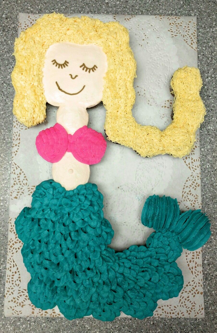 Mermaid Pull Apart Cupcakes By Cupcakes By Flea Pull