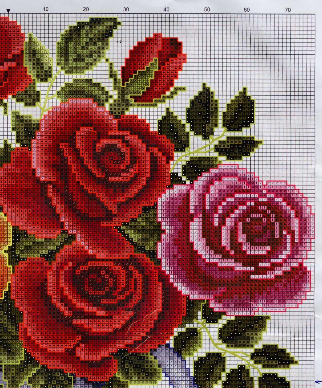 3 PART 2   hermoso !!!   Pinterest   Karaffe, Rose und Stickerei