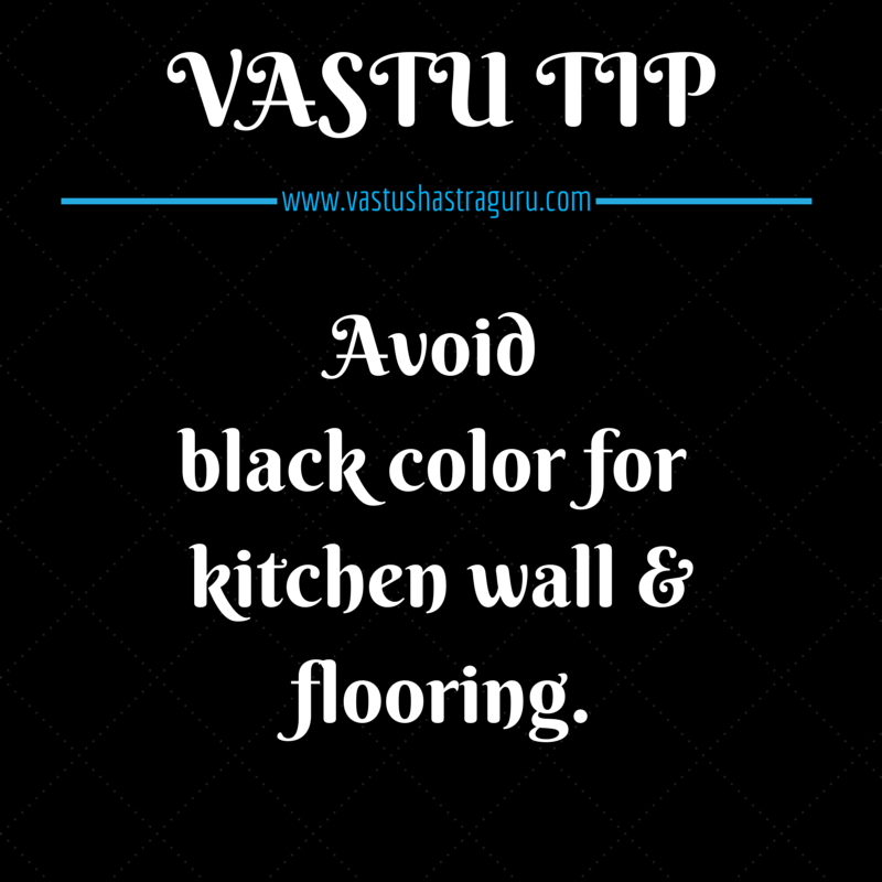 #vastu For Kitchen- Avoid Black Color For Kitchen Wall Or