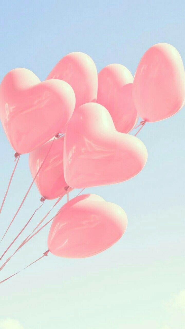 Pink Heart Balloons Lava Wedding Pretty Wallpapers