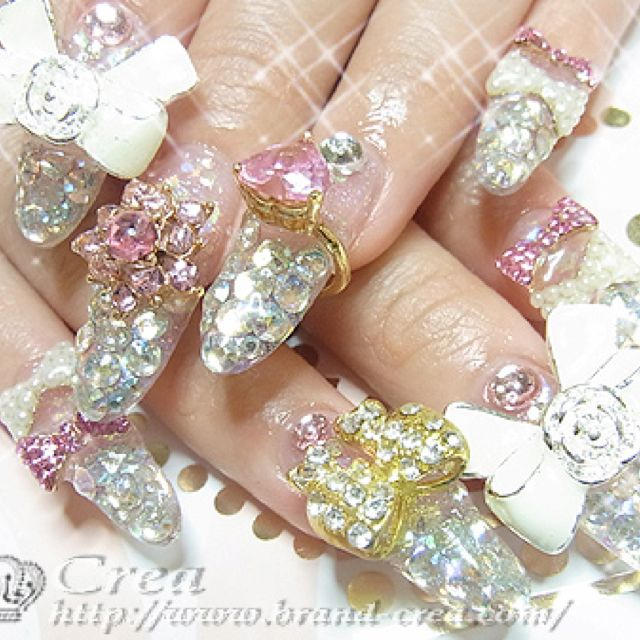 Glam 3d nails