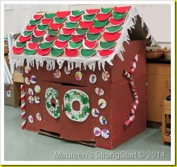 Surprising Gingerbread House Made Out Of A Large Cardboard Box Note Download Free Architecture Designs Rallybritishbridgeorg