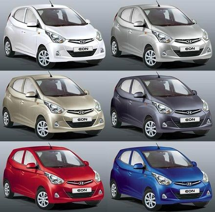 Which of these colors of the Hyundai EON drive you ON