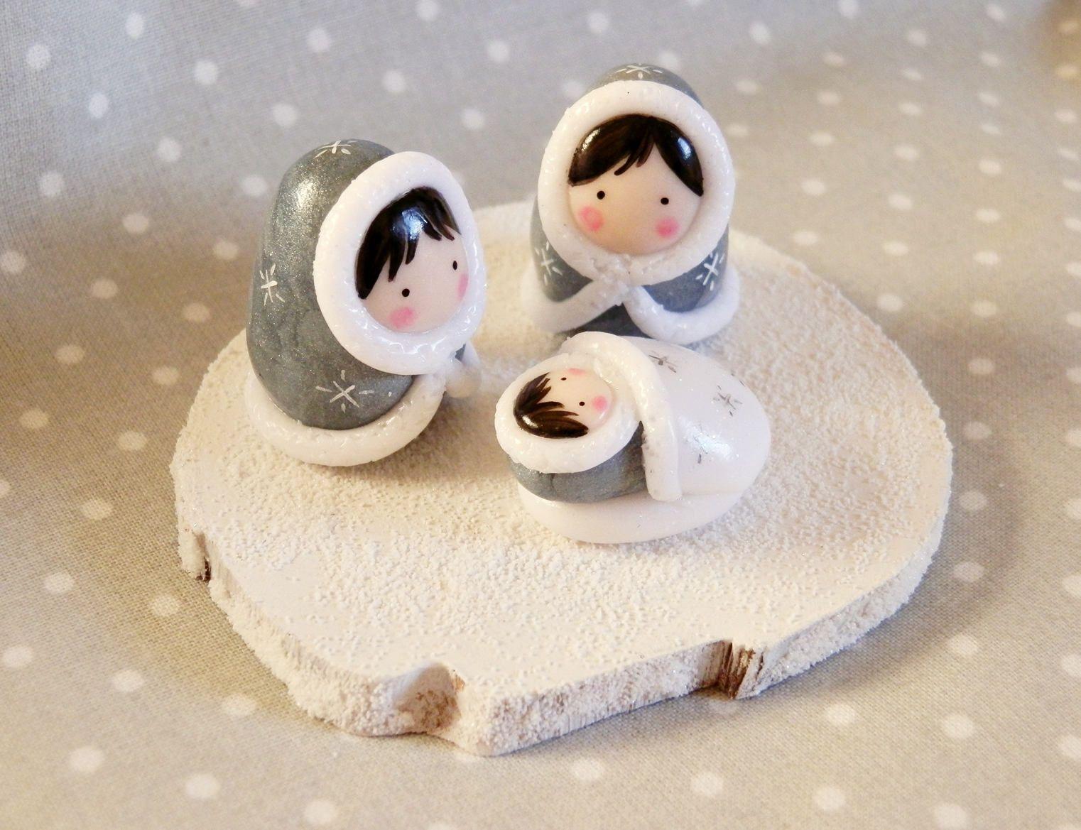 mini nativity little eskimos nativity nativity dolls et noel. Black Bedroom Furniture Sets. Home Design Ideas