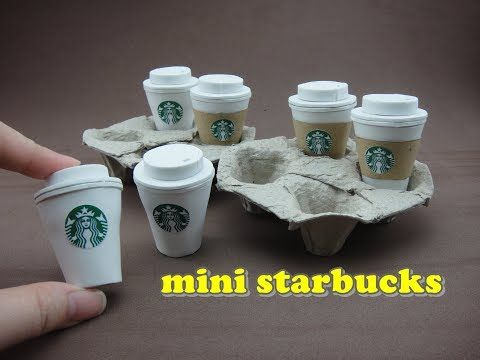 10 PCS Dollhouse miniatures empty Starbucks Clear Plastic Glass with Cap