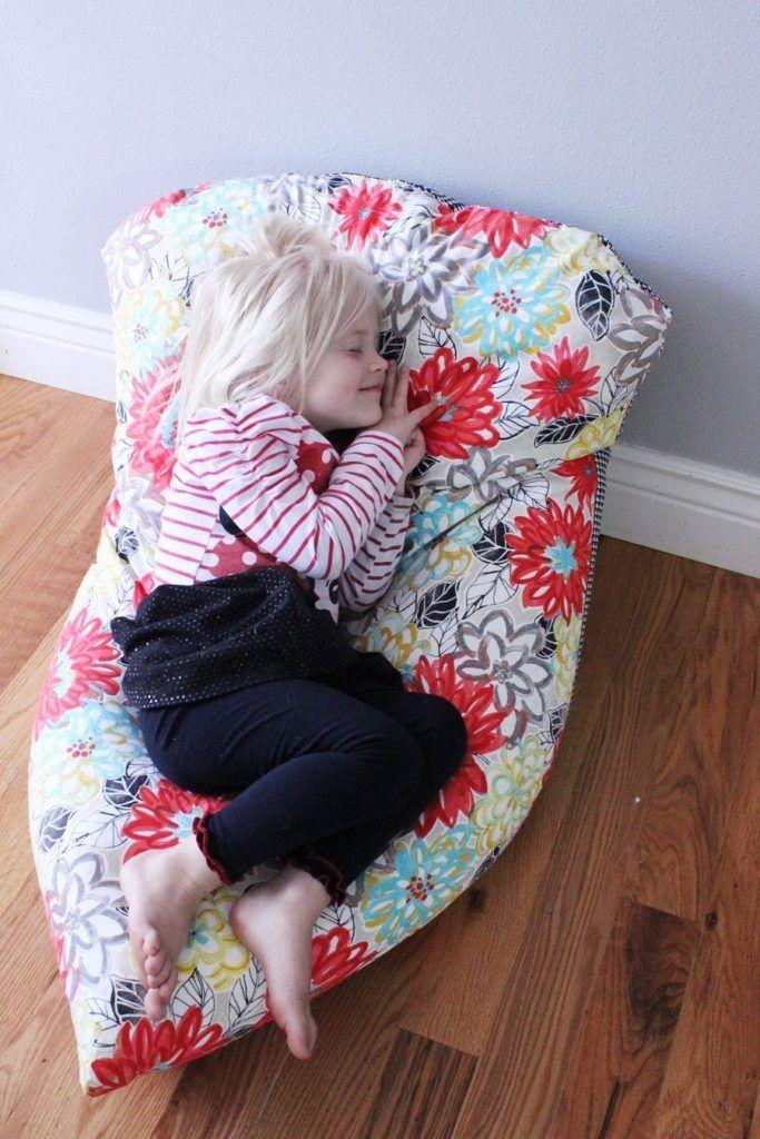 Super Simple DIY Kids Bean Bag Chair A StepbyStep