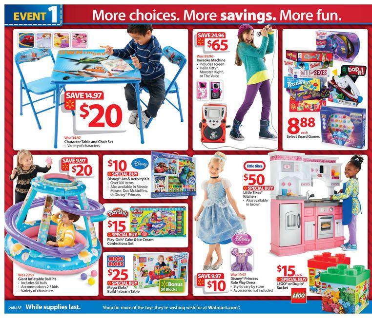 Walmart Black Friday 2013 Ad Page 28 Ad Blackfriday Sales Deals Coupons Kids Toys Walmart Black Friday Black Friday 2013