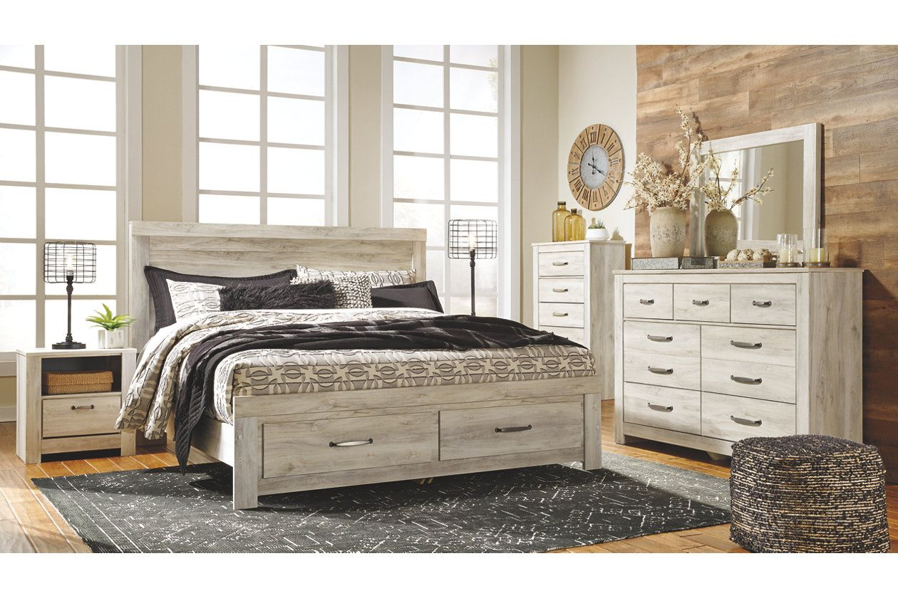 Bellaby Queen Platform Bed with 2 Storage Drawers
