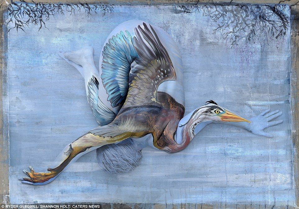 Artist Creates Incredibly Realistic Body Art That Looks Like Animals Body Art Painting Animal Paintings Body Painting