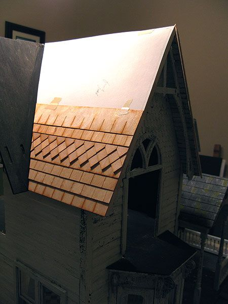 Roof Shingling Part 1 Doll House Diy Dollhouse Roof