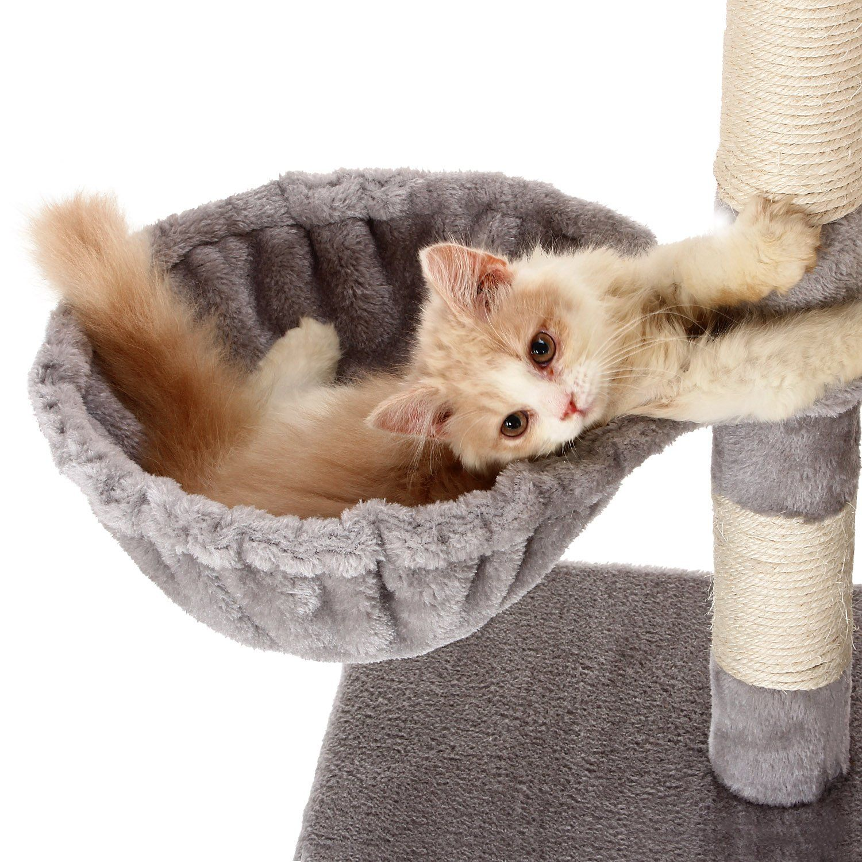 Ollieroo 48h Cat Climbing Tree Tower Condo Scratcher Furniture Kitten House Hammock With Scratching Post And Toys F Cat Climbing Tree Kitten House Cat Climbing