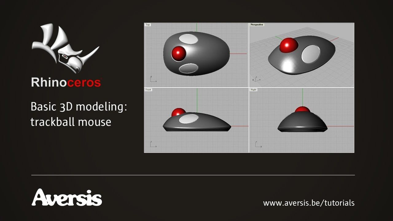Rhino 3d surface styling basics modeling a trackball mouse rhino 3d baditri Choice Image