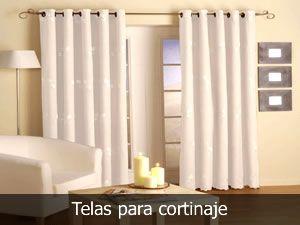Telas para cortinaje cortinas pinterest cortinas for Donde venden cortinas