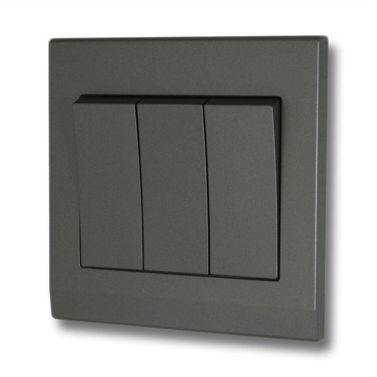 Dark Gray Light Switch Covers