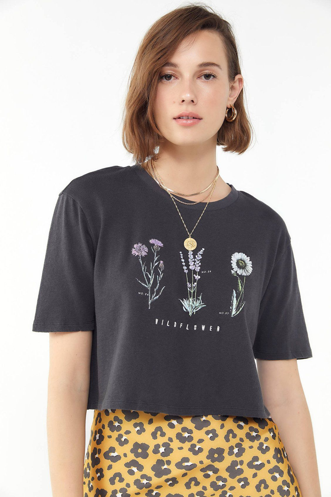 26bf02becd83 Embroidered Wildflower Cropped Top in 2019
